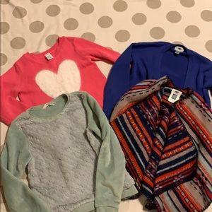 Girls Sweater Bundle Old Navy H&M Gymboree